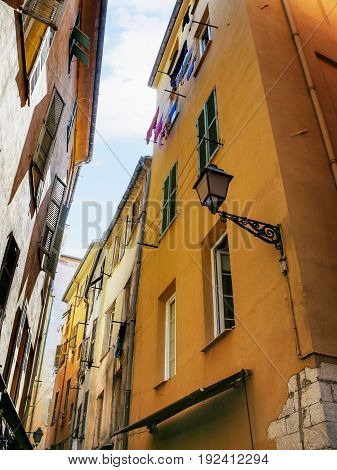 Residential Houses In Old City Of Nice