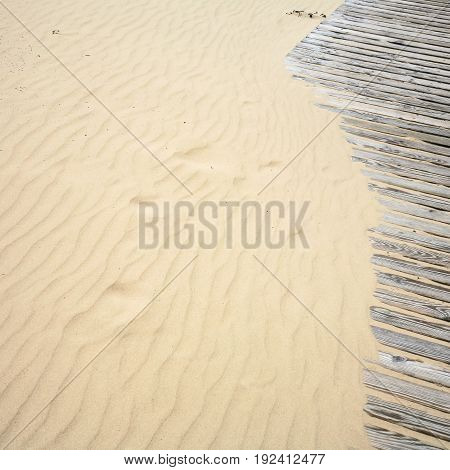 Sand Beach And Wooden Path In Resort Jurmala Town