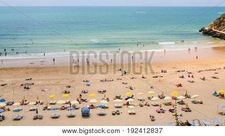 Urban Beach Praia Do Peneco In Albufeira City