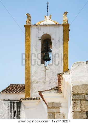 Bell Tower Of Church Of Santiago In Tavira City