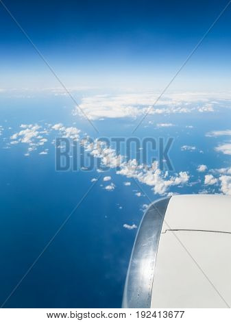 View Of сlouds Chain Over Blue Sea