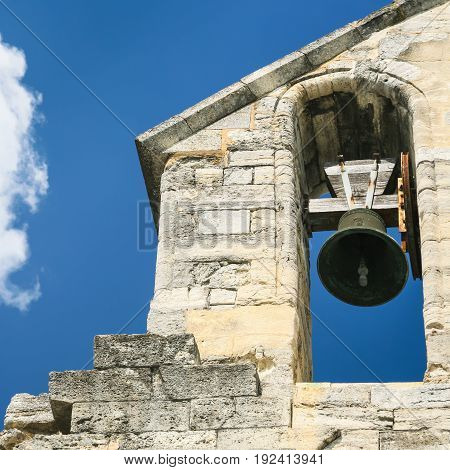 Bell In Bell Tower Of Cathedral In Avignon