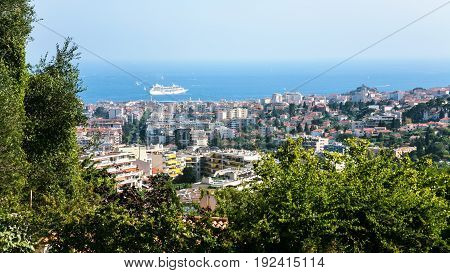 View Of Cote D'azur And Cannes City