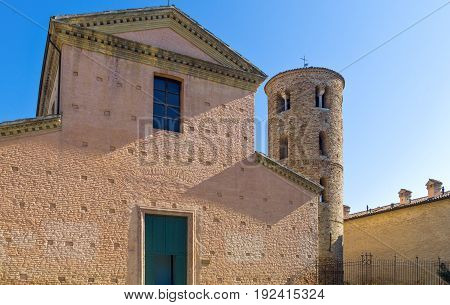 Italy Ravenna the small S.Maria church next to the S.Vitale basilica