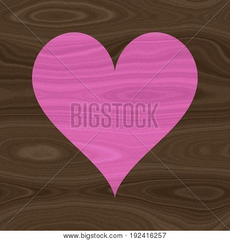 Pink wooden heart wood texture wallpaper image