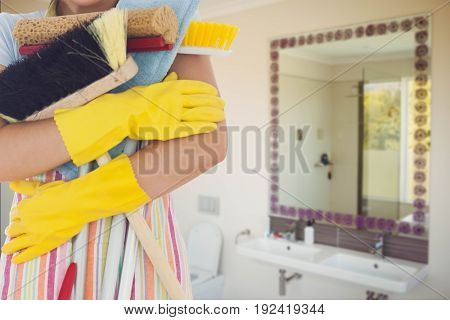 Digital composite of Cleaner at house
