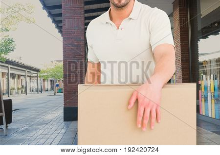 Digital composite of delivery torso