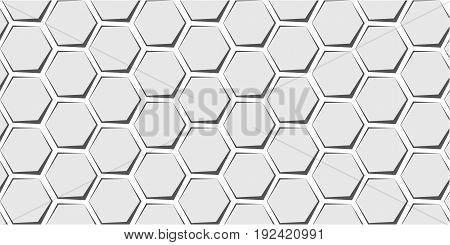 Grey honeycomb сomics slike pattern background. template for website design cover infographics. Geometric abstraction. Eps10 Vector.