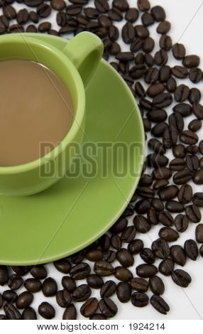 Coffee On Coffee Beans
