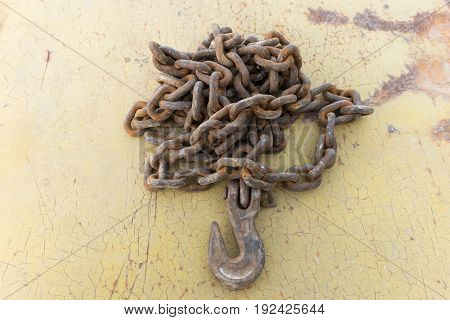 Old Iron Rusty Chain.