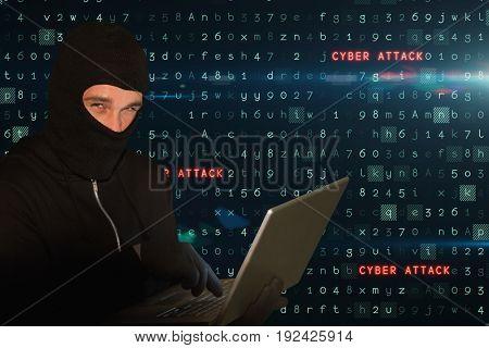 Digital composite of hacker