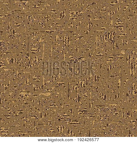 Brown background of abstract wood grain with free flowing loops and swirls provides varied textures and movement.
