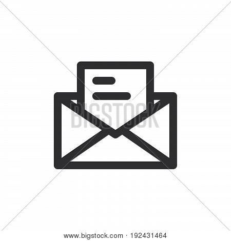 Letter email line icon outline vector sign linear style pictogram isolated on white. Symbol logo illustration. Thick line design. Pixel perfect graphics