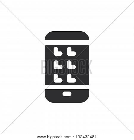 Smartphone icon vector filled flat sign solid pictogram isolated on white. Gadget symbol logo illustration. Pixel perfect