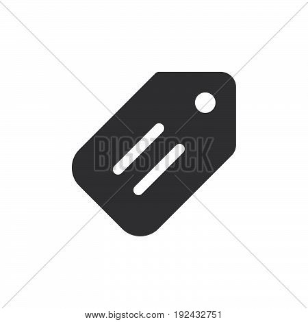 Price tag icon vector filled flat sign solid pictogram isolated on white. Symbol logo illustration. Pixel perfect