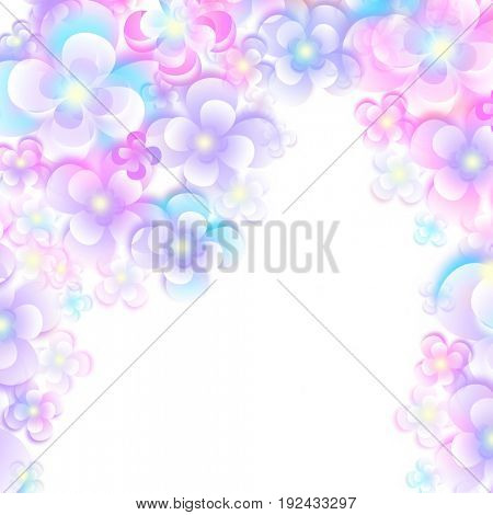 Abstract color flower background