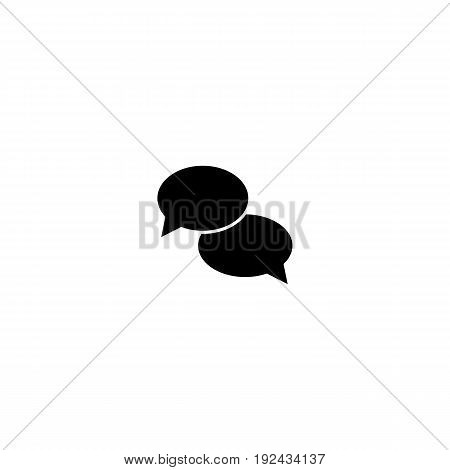 Talk icon in simple style for web, infographics and creative design. Isolated vector illustration