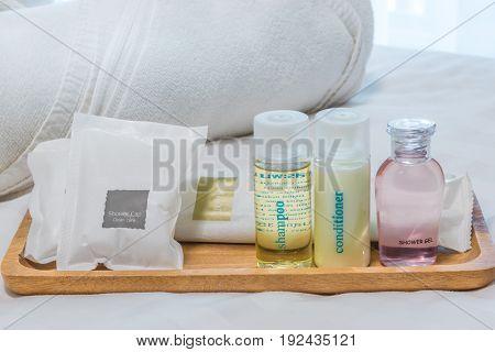 BATH ACCESSORIES IN HOTEL. Hotel bath amenities.