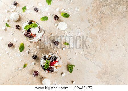 Eton Mess With Blackberries
