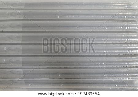 colorless transparent air foil for packaging as texture