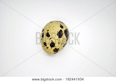 Dietary quail egg isolated on white background