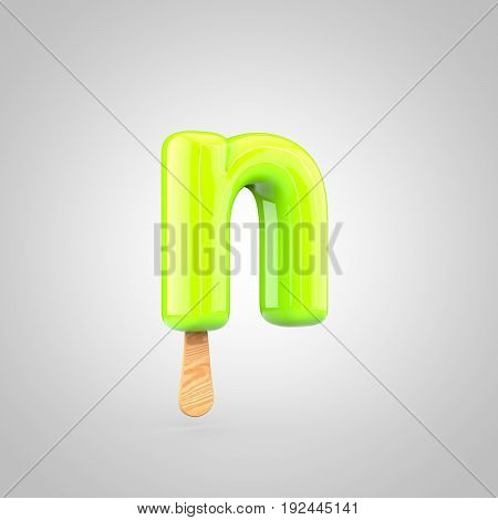 Ice Cream Letter N Lowercase Isolated On White Background