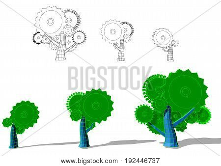 growth abstract illustration isolated on a white background