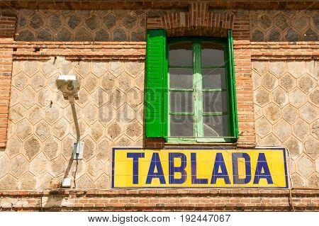 Tablada railway station near Madrid in Spain