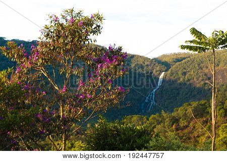 Waterfall in Matutu, state of Minas Gerais, Brazil