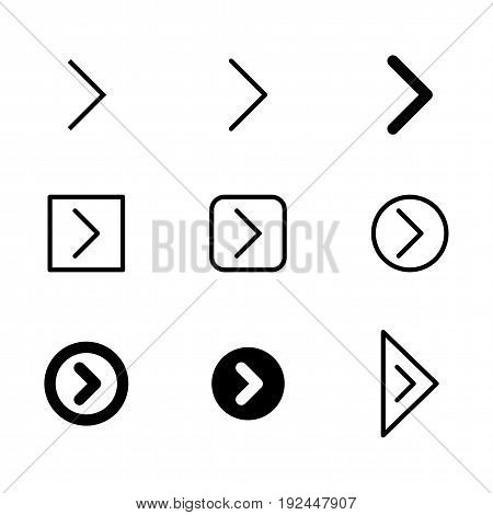 Arrow icon set for website and app design