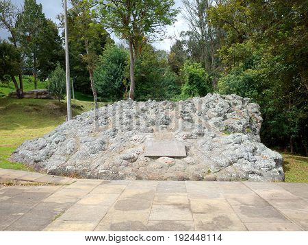 A monument dedicted to the British Legion who helped Simin Bolivar's army win independence for Colombia at the Puente de Boyaca the site of the famous Battle of Boyaca