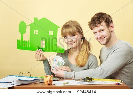 Young Couple Managing Finances.