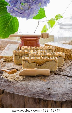 Homemade Oats And Honey Soap
