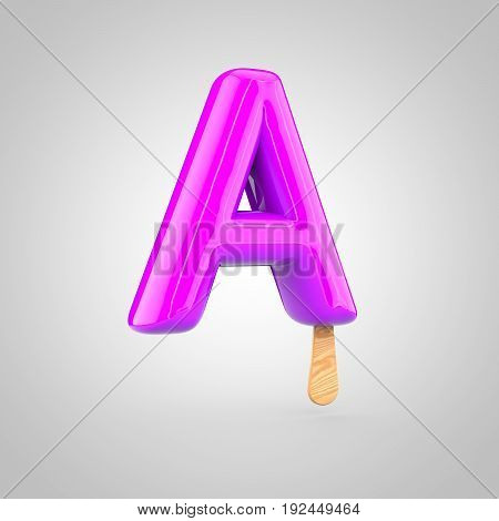 Ice Cream Letter A Uppercase Isolated On White Background