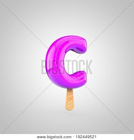 Ice Cream Letter C Lowercase Isolated On White Background