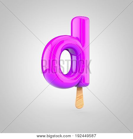 Ice Cream Letter D Lowercase Isolated On White Background