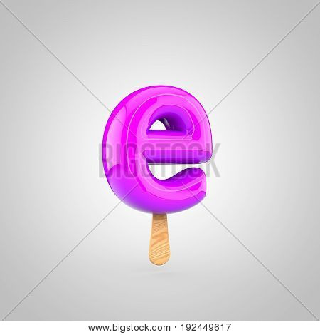 Ice Cream Letter E Lowercase Isolated On White Background