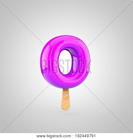 Ice Cream Letter O Lowercase Isolated On White Background