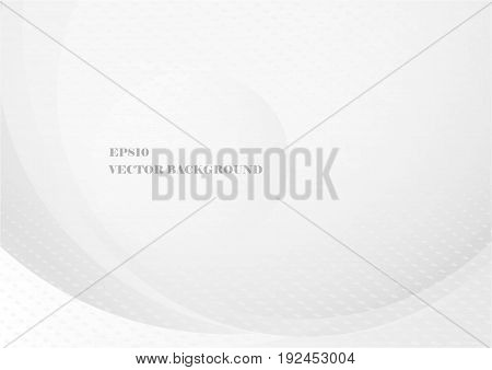 Abstract gray curve with halftone on background. Vector