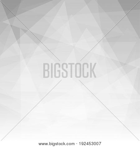 Abstract triangle shapes overlap on gray background