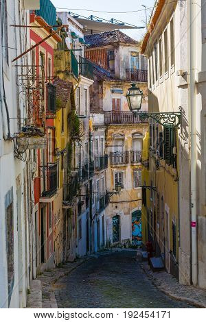 Fragments From The Streets Of The Old Lisbon, Portugal