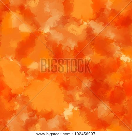 Orange Watercolor Texture Background. Awesome Abstract Orange Watercolor Texture Pattern. Expressive