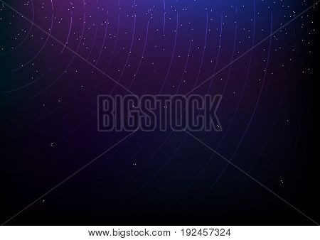 Abstract starry sky with meteor rain. Stars in the night sky,nebula and galaxy. Vector illustration.