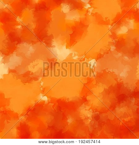 Orange Watercolor Texture Background. Unusual Abstract Orange Watercolor Texture Pattern. Expressive