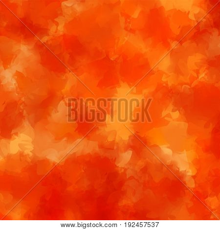 Orange Watercolor Texture Background. Delightful Abstract Orange Watercolor Texture Pattern. Express