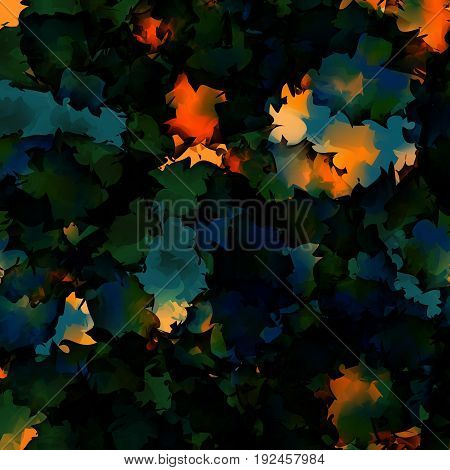 Orange Green Blue Watercolor Texture Background. Good-looking Abstract Orange Green Blue Watercolor