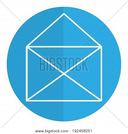 envelope mail isolated icon vector illustration design shadow