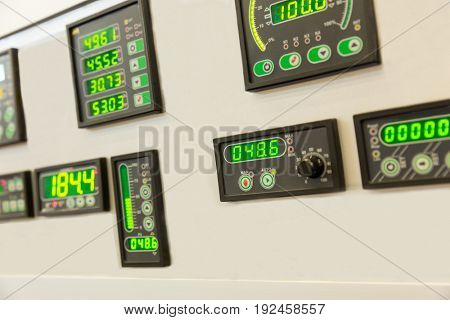 Water control panel, display, buttons and switches