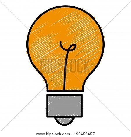 bulb light isolated icon vector illustration design doodle