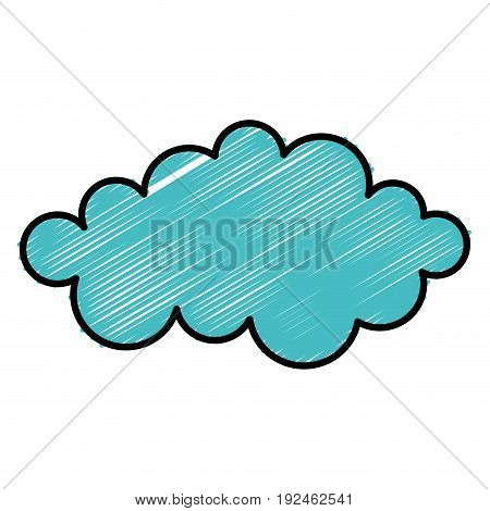 cloud weather flat icon vector illustration design graphic